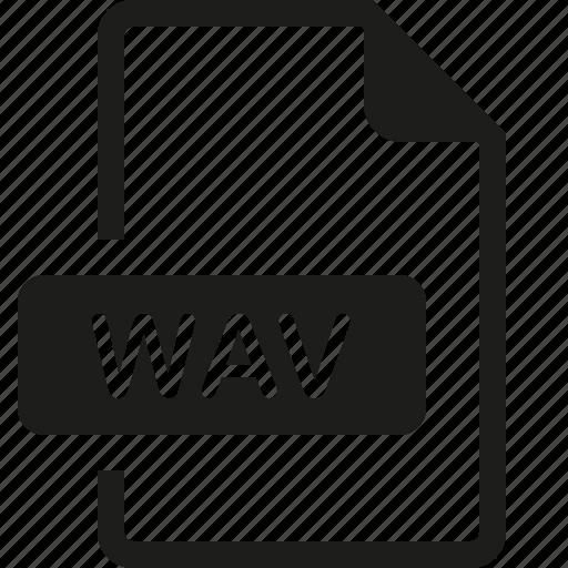 file, format, wav icon