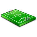 football, soccer, field, track icon