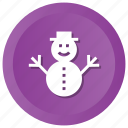holiday, snowman, winter icon
