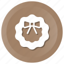 holidays, wreath icon