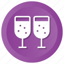 alcohol, christmas, glass, party, wine icon