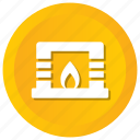 chimney, christmas, fire, fireplace icon