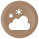 christmas, cloud, snowing, winter icon