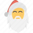 beard man face, cartoon character, christmas celebration, santa claus, santa mask icon