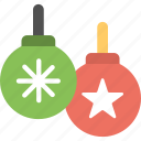 bauble balls, baubles, christmas ball, christmas bauble, decoration element icon