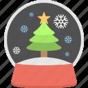 christmas showpiece, snow dome, snow globe, snow storm, winter decoration icon