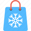 christmas sale, christmas shopping, christmas shopping bag, winter sale, winter shopping bag icon