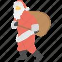 christmas celebration, happy season, santa claus icon