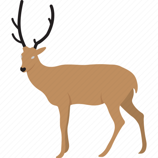 cartoon reindeer, christmas reindeer, funny deer, funny reindeer icon