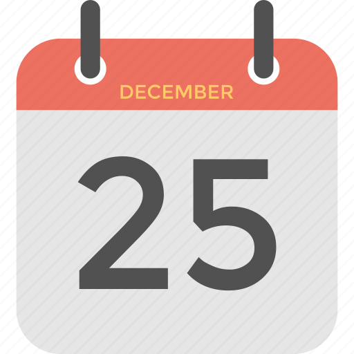 25 december, christmas calendar, christmas day, holiday reminder, religious event icon - Download on Iconfinder