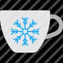 beverage, hot coffee, mug of tea, tea cup, winter drink icon