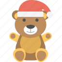 christmas bear, funny teddy bear, gift teddy, teddy bear, toy bear icon