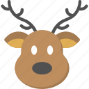 animal face, cartoon elk, deer head, reindeer face, reindeer head icon