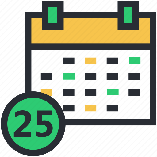 calendar, date, day, daybook, wall calendar icon