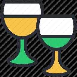 alcohol, champagne, drink, glasses, wine glasses icon