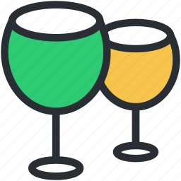 alcohol, champagne, drink, glasses, wine glasses icon