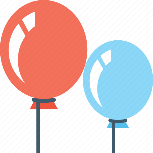 Balloons, celebrations, decorations, fun, party icon - Download on Iconfinder