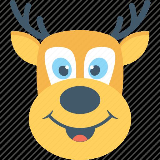 Animal, deer, elk, reindeer, rudolf icon - Download on Iconfinder