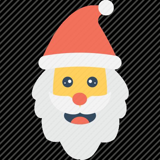 christmas, santa avatar, santa claus, santa face, xmas icon