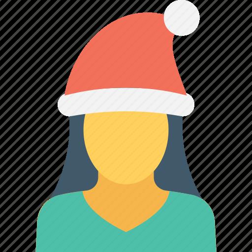 christmas, girl, winter, woman, xmas icon