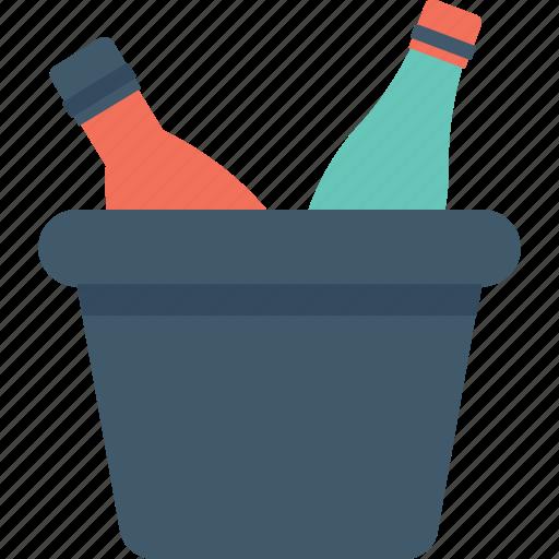 alcohol, champagne, wine, wine bottle, wine bucket icon