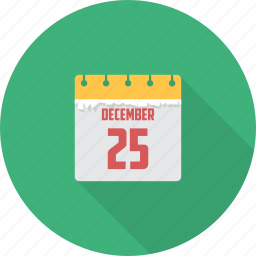 calender, christmas, date, december, month icon