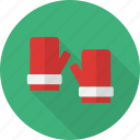 christmas, gift, gloves, hand, holiday icon