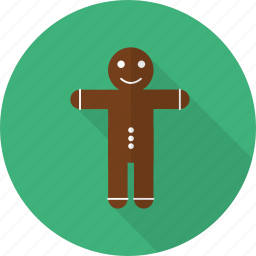 character, christmas, cookie, dessert, gingerbread, homemade, sweet icon