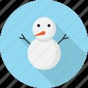 christmas, cute, snow, snowman, winter