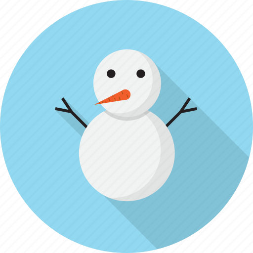 christmas, cute, snow, snowman, winter icon