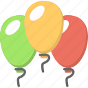 decorating object, event celebration, festive decor, flying balloons, holiday concept
