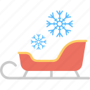 santa sleigh, sledge, sleigh, snow sleigh, winter sled