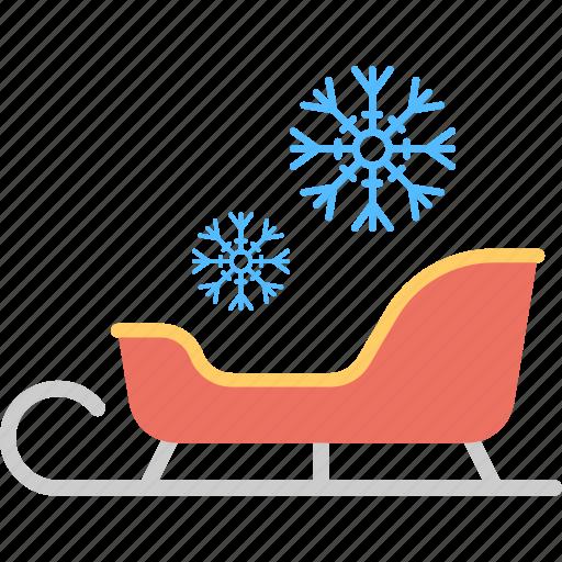santa sleigh, sledge, sleigh, snow sleigh, winter sled icon