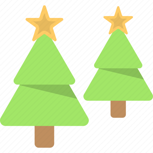 Christmas trees, conifer trees, decorative spruce trees, fir trees, xmas trees icon - Download on Iconfinder