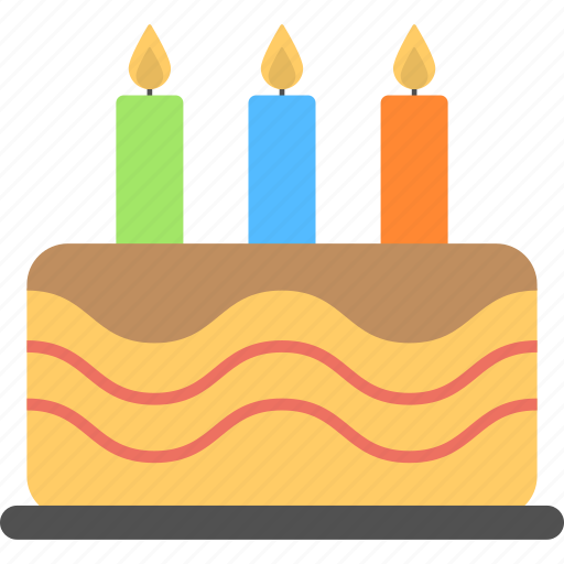 bakery food, birthday cake, confectionery, event celebration, sweets icon