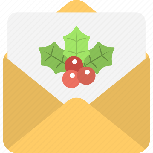 christmas greeting, festive postcard, mistletoe card, new year greeting, wishing card icon