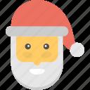 santa beard, santa claus, santa closeup, santa mask, symbol of santa