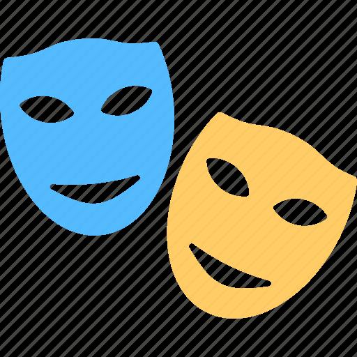 festival celebration, film mask, masquerade, mystery ornament, theater mask icon