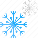 christmas celebration, decorating object, frost crystal, snowflake, winter concept icon