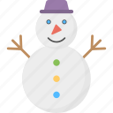 cartoon snowman, mantle of snow, snow sculpture, snowman, snowman character