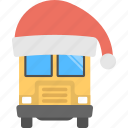 christmas bus, christmas travel, happy christmas, holiday concept, winter break icon