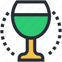 alcohol, cocktail, drink, glass, wine glass icon