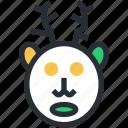 animal head, christmas reindeer, deer head, elk, reindeer head