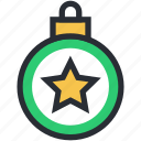 bauble, christmas bauble, star, star bauble, star decoration icon