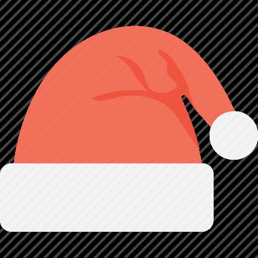 clothing, hat, santa claus, santa hat, winter hat icon