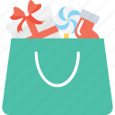 bag, christmas shopping, gifts, shopping, shopping bag icon