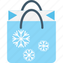 bag, christmas shopping, shopping, shopping bag, snowflake icon