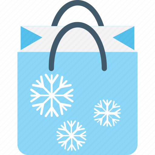 bag, christmas shopping, shopping, shopping bag, snowflake icon