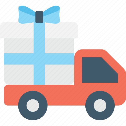 cargo, free gift, gift, shipping, truck icon