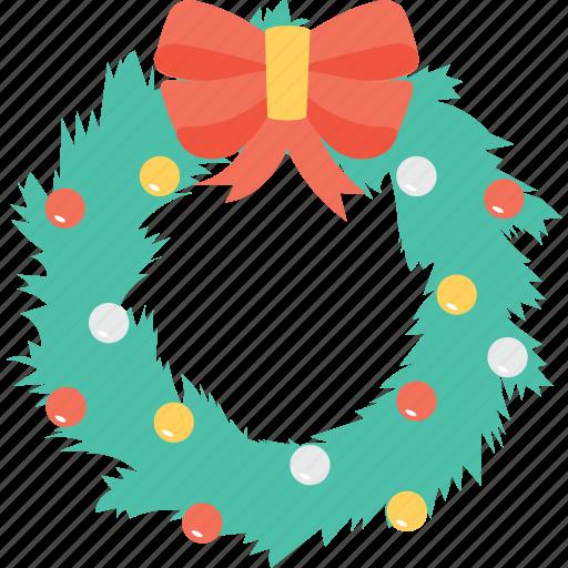 christmas, decorations, garland, ornament, wreath icon